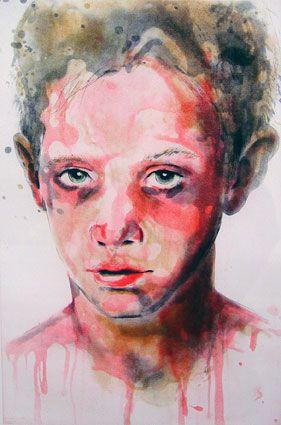 © Cherry Hood ~ Peter ~ etching 7/20 at Tim Olsen Gallery Sydney Australia