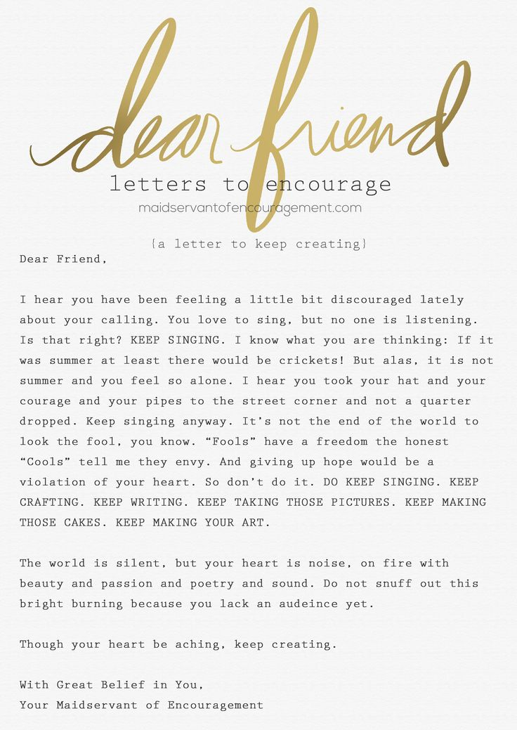 Farewell Letter to a Best Friend