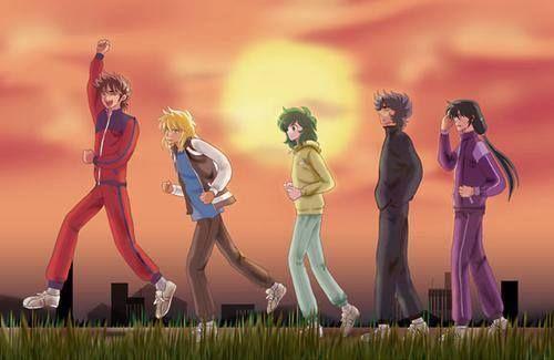 Seiya, Hyoga, Shun, Ikki e Shiryu
