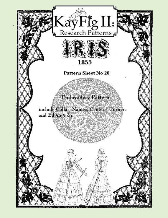 Iris Fashion Pattern 1855, No 20,  full size reprint