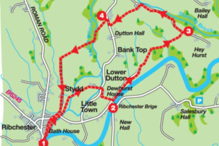 Ribchester walk map