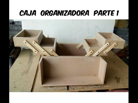 Caja organizadora o cosmetiquera de MDF - YouTube