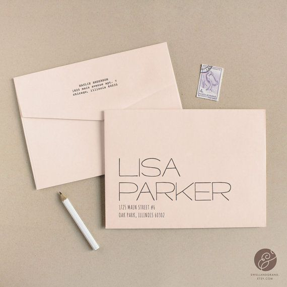 Printable Wedding Envelope Template | INSTANT DOWNLOAD | Letter | Calligraphy Alternative | for Word or Pages Mac & PC