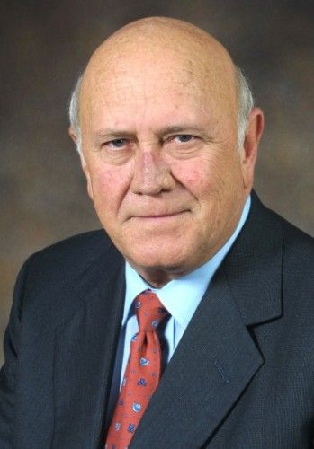Hire / Book FW de Klerk Keynote Speaker on Leadership. Frederik Willem de Klerk was born in Johannesburg on 18th March 1936. FW de Klerk's school years were spent mainly in Krugersdorp, where he matriculated at Monument High School.   For more info visit: http://eventsource.co.za/ads/book-hire-fw-de-klerk-keynote-speaker-on-politics/