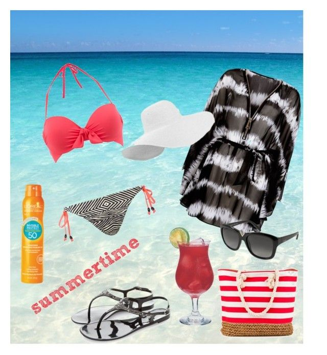 It's summertime!!! by magica-despell on Polyvore featuring Blue Vanilla, Mint Velvet, Freya, Valentino and L'Oréal Paris