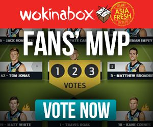 PAFC AFL let fans vote for their MVP after each game