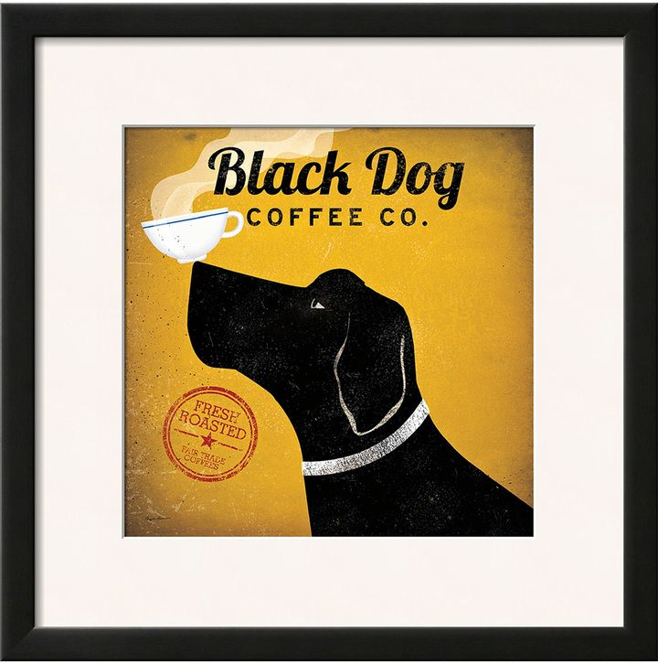 The Art Studio Black Dog Coffee Co. by Ryan Fowler (Framed)