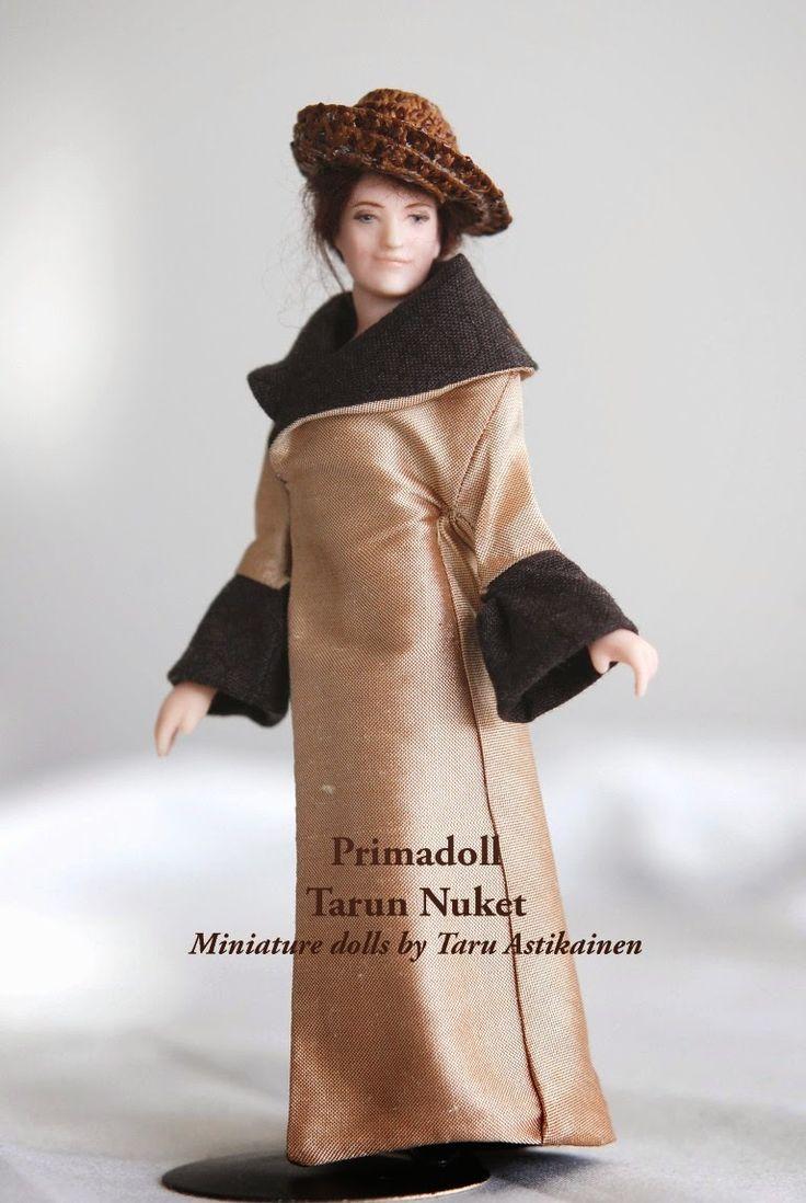 "1:12 porcelain doll ""Cora"" by Taru Astikainen"
