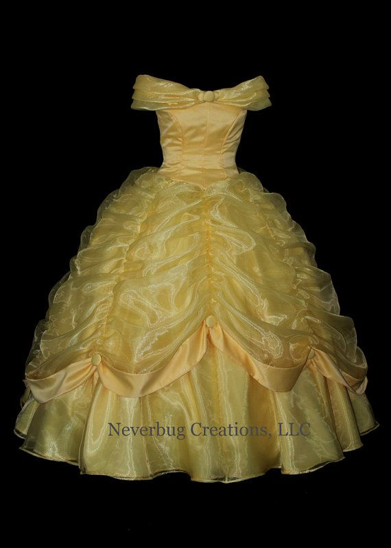 Beauty and the Beast Belle Classic Yellow by NeverbugCreations. Without the buttons on the collar tho