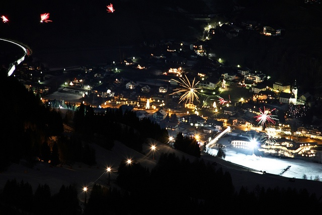 New Year's Eve 2012 @Bad Kleinkirchheim, taken from top of the Kaiserburg at 2.055m