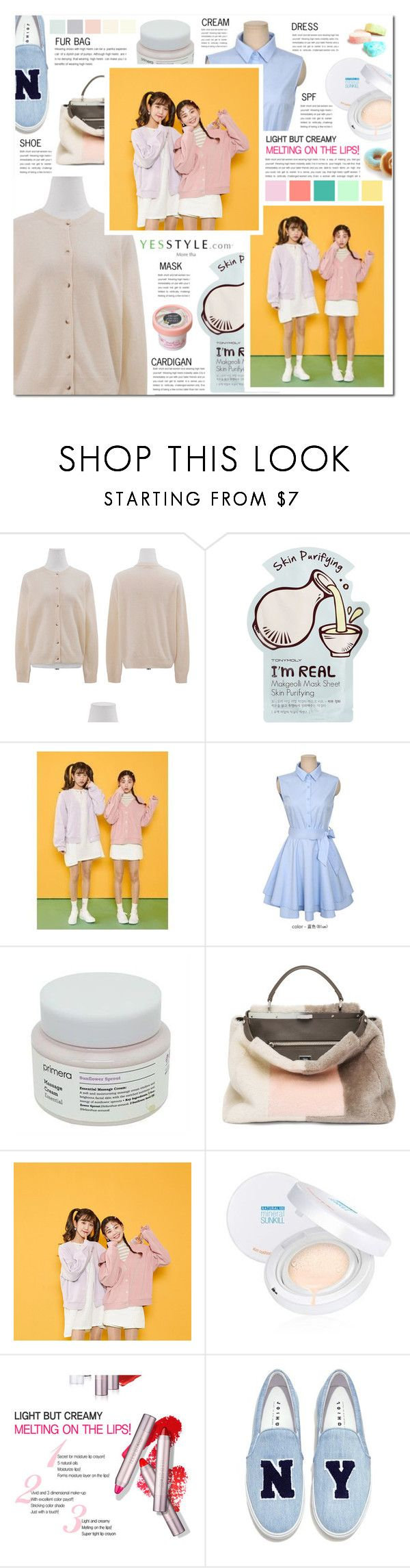 """""""Show us your ootd with Cardigans - US$40 store coupons for FIRST TWO winners!"""" by pankh ❤ liked on Polyvore featuring Tony Moly, Jolly Club, Fendi, Joshua's, Winter, ootd, cardigans and yesstyle"""