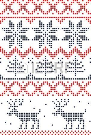 skandinavischen nahtlose Muster Lizenzfreie Bilder - 11658997