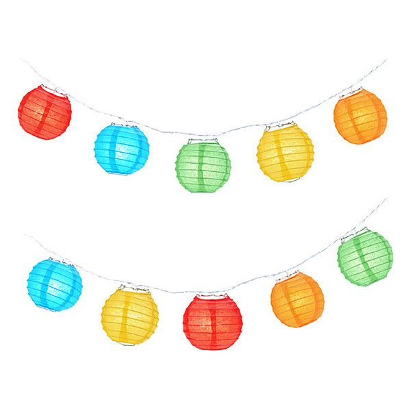 Asian Import Store Multi Color Party Lantern String Lights ($9.99) ❤ Liked  On