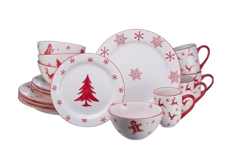 Winterfest 16 Piece Dinnerware Set by EuroCeramica #EuroCeramica