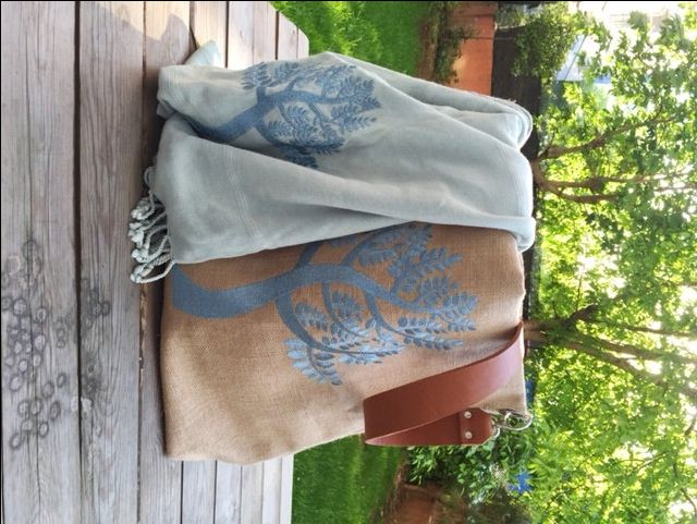 EMBROIDERY Bag, Beach Bag: Tote Beach Bag; by HELIXSIS on Etsy