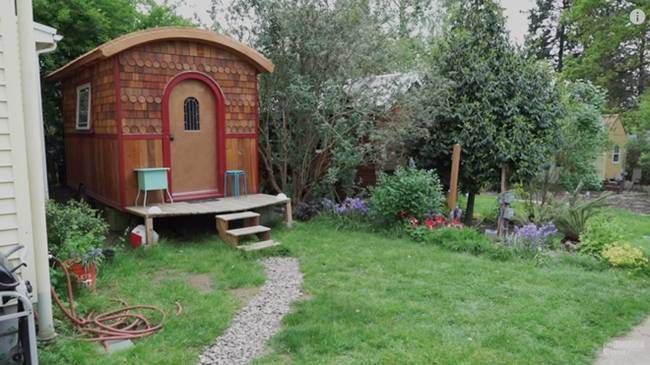 The lucky penny a small home in one tiny co housing for Four lights tiny house plans