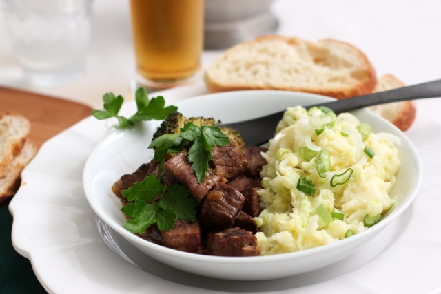 Irish Beef Stew with Colcannon | Irish themed recipes | Pinterest