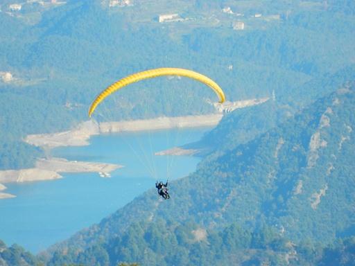 vuelo en parapente sobre el Berguedà