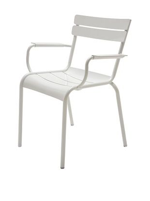 44% OFF Industrial Chic Marcel Arm Chair, White