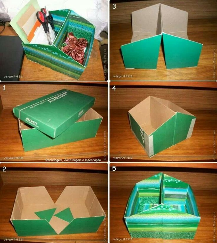 Reciclagem cartonagem pinterest reciclado for Reuse shoe box ideas