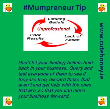Don't let your limiting beliefs hold back in your business.  Query and test everyone of them to see if they are true, discard those that aren't and get help with the ones that are, so that you can move your business forward. www.mumpreneursupportnetwork.com