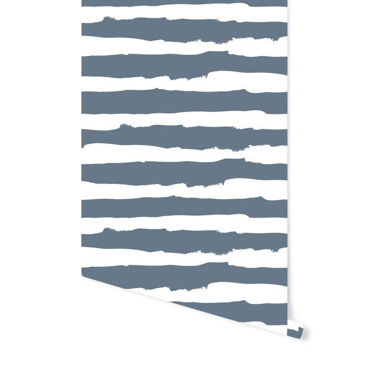 Wave Stripes In 2020 Stripe Removable Wallpaper Striped Wallpaper Geometric Removable Wallpaper