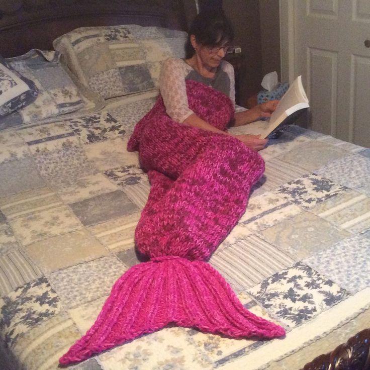 Idée cadeau pour Noël ! Tricoter une belle couverture queue de sirène !