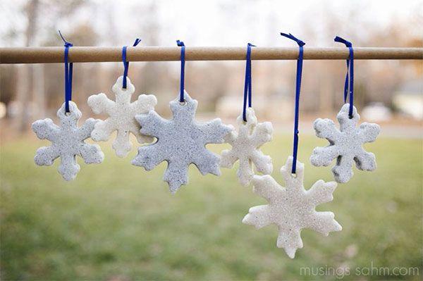 Fiocchi di neve in pasta di sale