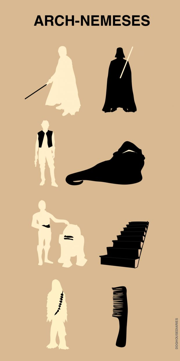 Star Wars arch-nemeses.Geek, Arches Nemes, Stairs, Funny Pictures, Star Wars, Funny Commercials, True Stories, Starwars, Funny Stars Wars