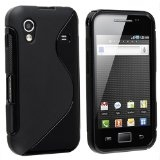 eForCity TPU Rubber Skin Case for Samsung© Galaxy Ace GT-S5830, Frost Black S Shape - eForCity TPU Rubber Skin Case for Samsung© Galaxy Ace GT-S5830, Frost Black S Shape    Keep your Samsung© Galaxy Ace GT-S5830 safe and protected in style with th