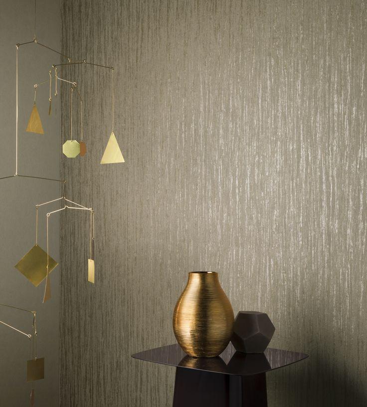 Design Classics   Metallics   Stone Wallpaper by Arte   Jane Clayton