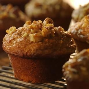 Banana-Bran Muffins-- a breakfast recipe rich with fiber to help keep you full till your next meal.