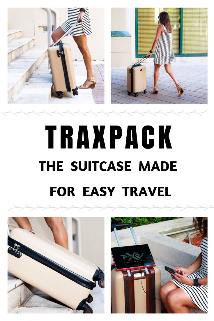 #traxpack - luggage made for easy travel! #travel #traveltips #trip #travelproducts #suitcase
