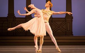 Like adversaries … Natalia Osipova and Steven McRae in Rhapsody.