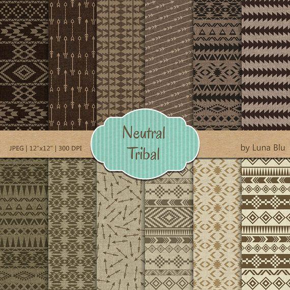 Tribal papier numérique : Papiers tribales par Lunabludesign
