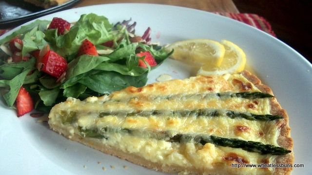 Spring Asparagus Lemon Tart | Gluten Free, Low Carb | Wheatless Buns ...