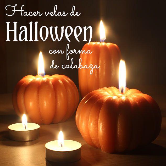 Las 25 mejores ideas sobre velas de halloween en - Como hacer velas en casa ...