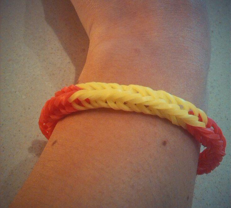 Diy pulsera gomitas para animar a España en el mundial! ;)