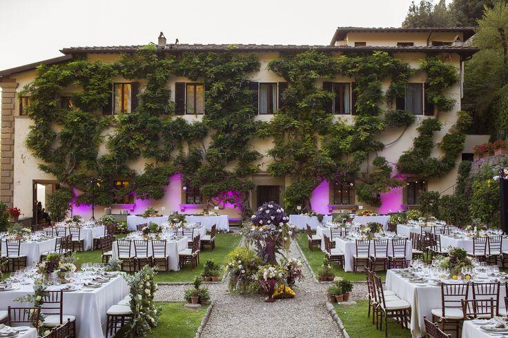 Rustic Chic wedding set up