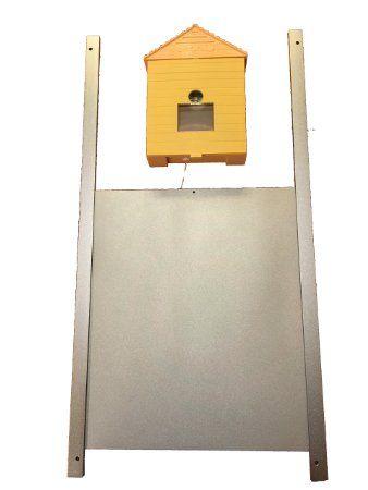 Porte métallique pour poulailler + Ouvre-porte automatique de poulailler, modèle à capteur lumineux et minuterie