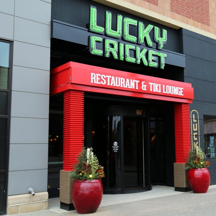 Lucky cricket restaurant and tiki bar at west end st