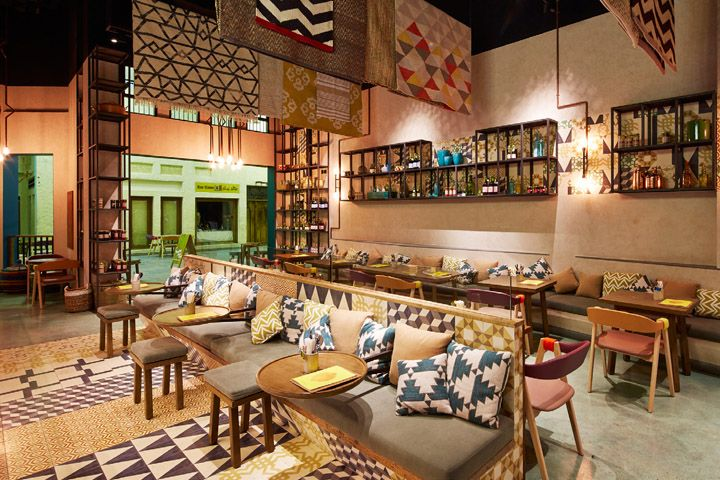 Lumee restaurant interior brand design by i am manama