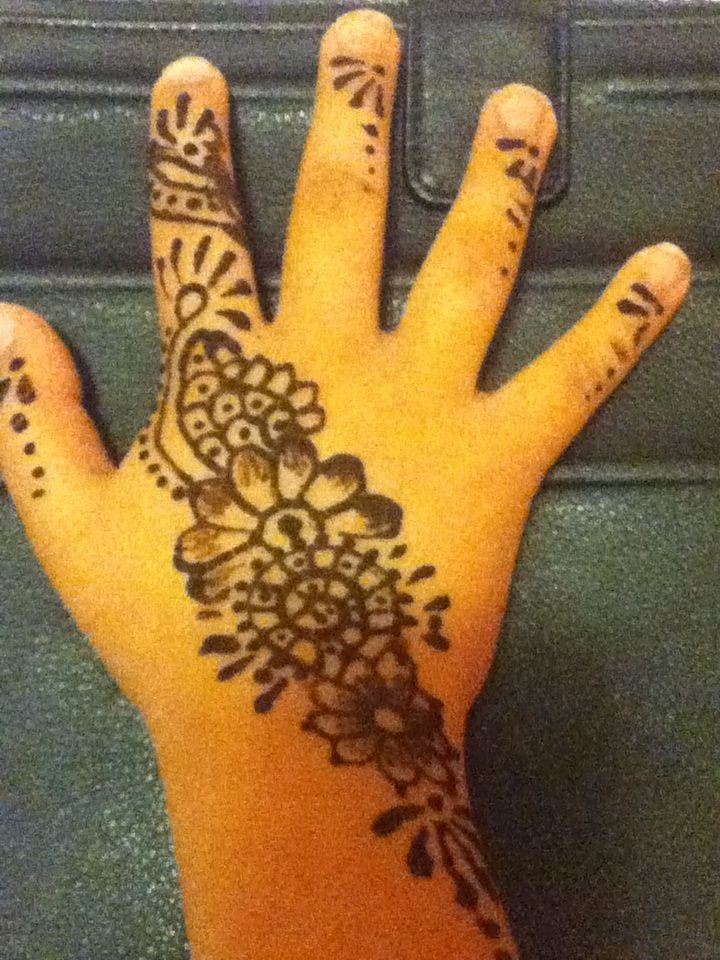 It's henna which this took a while