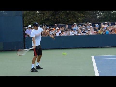 Roger Federer Forehand and Backhand 7 - 2013 Cincinnati Open - YouTube
