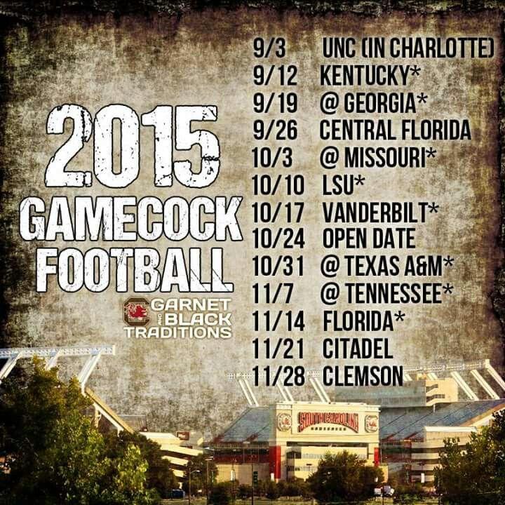 2015 game schedule