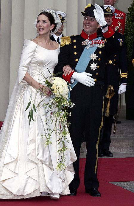 Royal brides: The fairytale wedding dresses worn by real-life princesses - Mary Donaldson marries Prince Frederik of Denmark