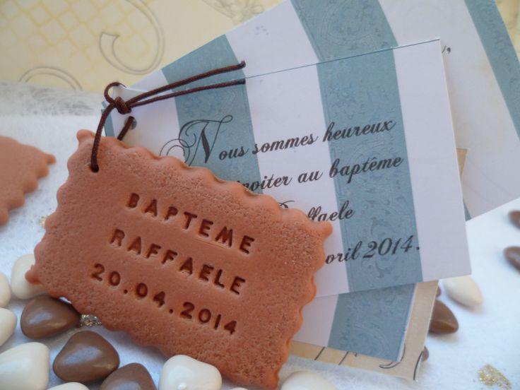 """Faire-part gourmand """"3 feuillets"""", biscuit personnalisé : Faire-part par fabrique-de-meline"""