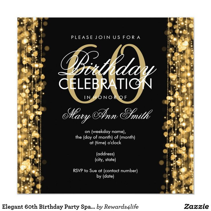 40 best 60th birthday party invitations images on Pinterest | Happy ...