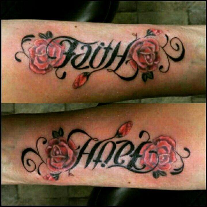 1000 Ideas About Ambigram Tattoo On Pinterest: Ambigram Tattoo By Wayne Morel Faith/Hope