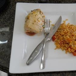 Stuffed Chicken Breasts with Asparagus and Parmesan Rice Allrecipes.com